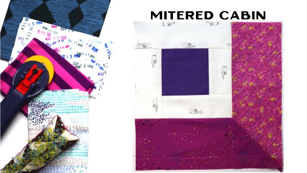 Mitered Cabin Block: Modern Quilt Block Series
