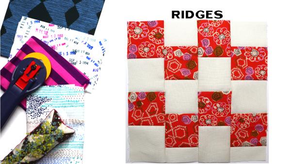 Ridges Block: Modern Quilt Block Series