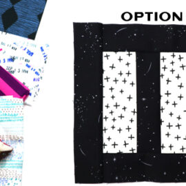 Option Block by Amy Ellis for Modern Quilt Block Series