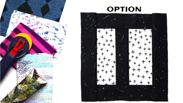 Option Block: Modern Quilt Block Series