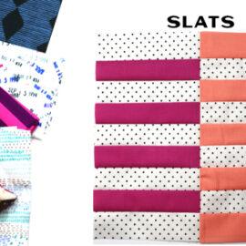 Slats Block by Amy Ellis for Modern Quilt Block Series