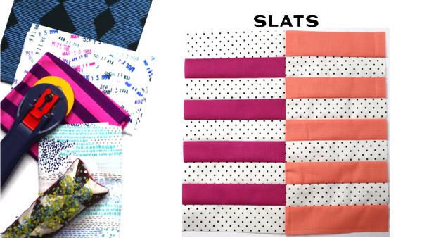 Slats Block: Modern Quilt Block Series