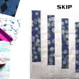 Skip Block by Amy Ellis for Modern Quilt Block Series