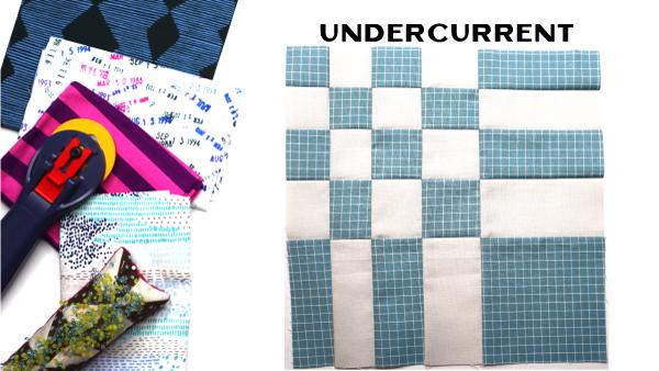 Undercurrent Block: Modern Quilt Block Series