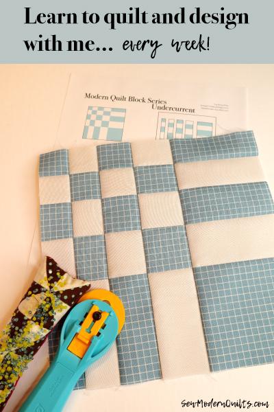 Undercurrent Block by Amy Ellis for Modern Quilt Block Series