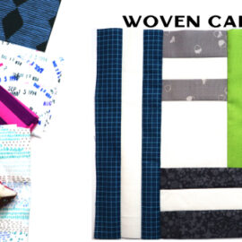 Woven Cabin Block by Amy Ellis for Modern Quilt Block Series