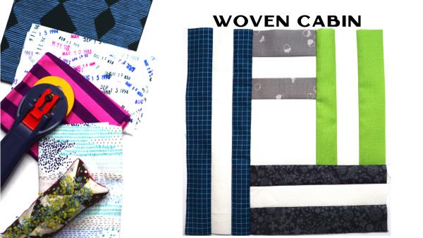 Woven Cabin Block: Modern Quilt Block Series