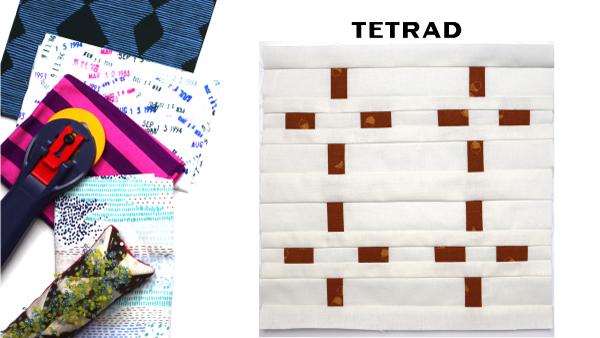 Tetrad Block by Amy Ellis for Modern Quilt Block Series