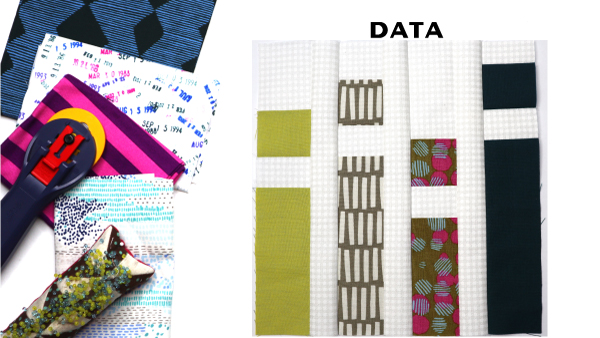 Data Block by Amy Ellis for Modern Quilt Block Series