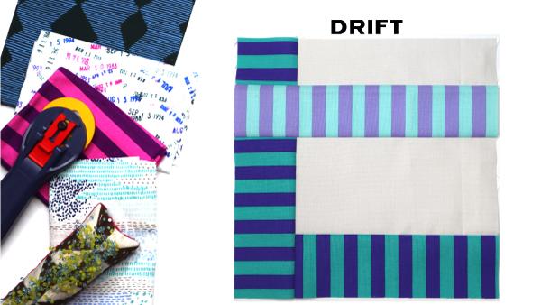Drift Block by Amy Ellis for Modern Quilt Block Series